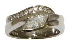 White Gold and Marquise Diamond