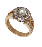 Rose and White Gold, with white and Natural Pink Diamonds